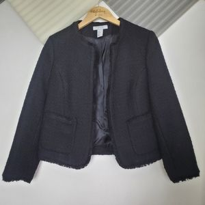 H&M   Tweed black blazer jacket Size 10
